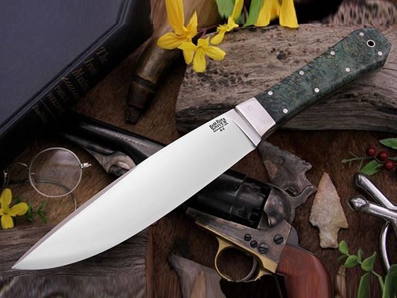 Нож Bark River Rogue Green Gold Elder Burl