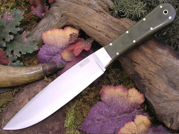 Нож Bark River Rogue Green Linen Micarta