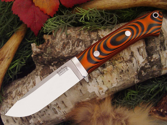Нож Bark River Drop Point Hunter Tigerstripe G-10