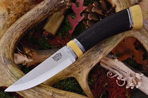 Нож Bark River Scandi Black Canvas Micarta Ivory Spacer