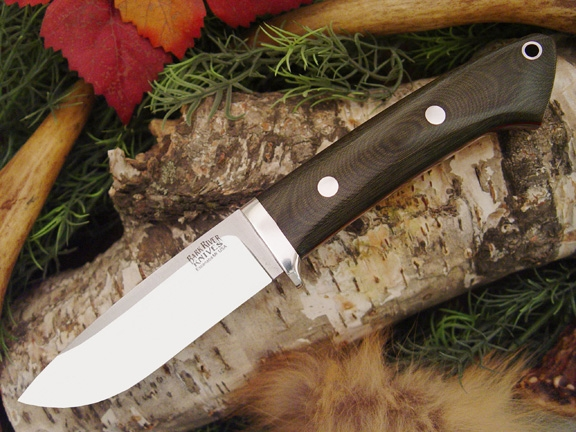 Нож Bark River Drop Point Hunter Green Linen Micarta