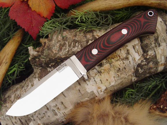 Нож Bark River Drop Point Hunter Black&Red G-10