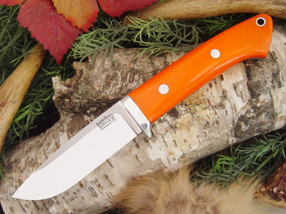Нож Bark River Drop Point Hunter Blaze Orange G-10