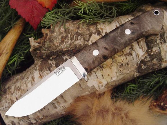 Нож Bark River Drop Point Hunter California Buckeye Burl