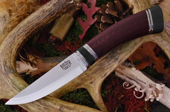 Нож Bark River Scandi Red Linen Micarta Black Paper Space