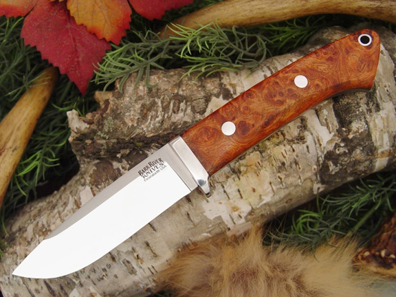 Нож Bark River Drop Point Hunte Amboynia Burl