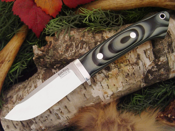 Нож Bark River Drop Point Hunter Midnite Tiger G-10