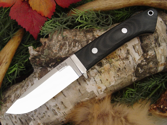 Нож Bark River Drop Point Hunter Black Canvas Micarta