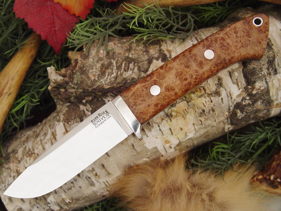 Нож Bark River Drop Point Hunter Black Ash