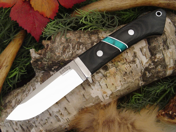 Нож Bark River Drop Point Hunter BCM Jade Malachite Space