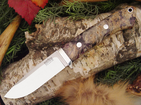 Нож Bark River Drop Point Hunte Purple Gold Black Elder