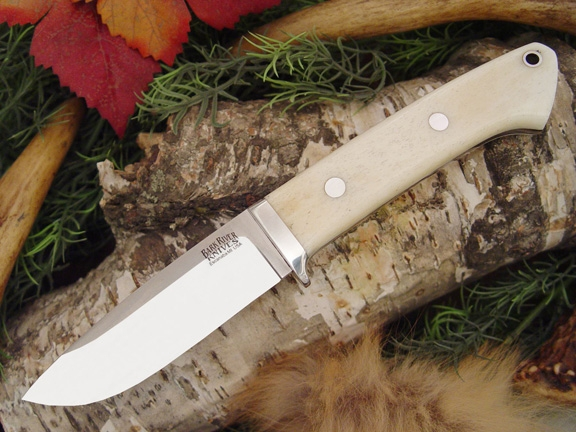 Нож Bark River Drop Point Hunter Smooth Bone