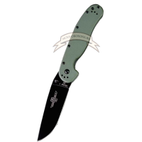 Нож Ontario Rat 1 Black D2 Green Handle