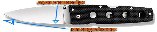 Клинок ножа Cold Steel Hold Out